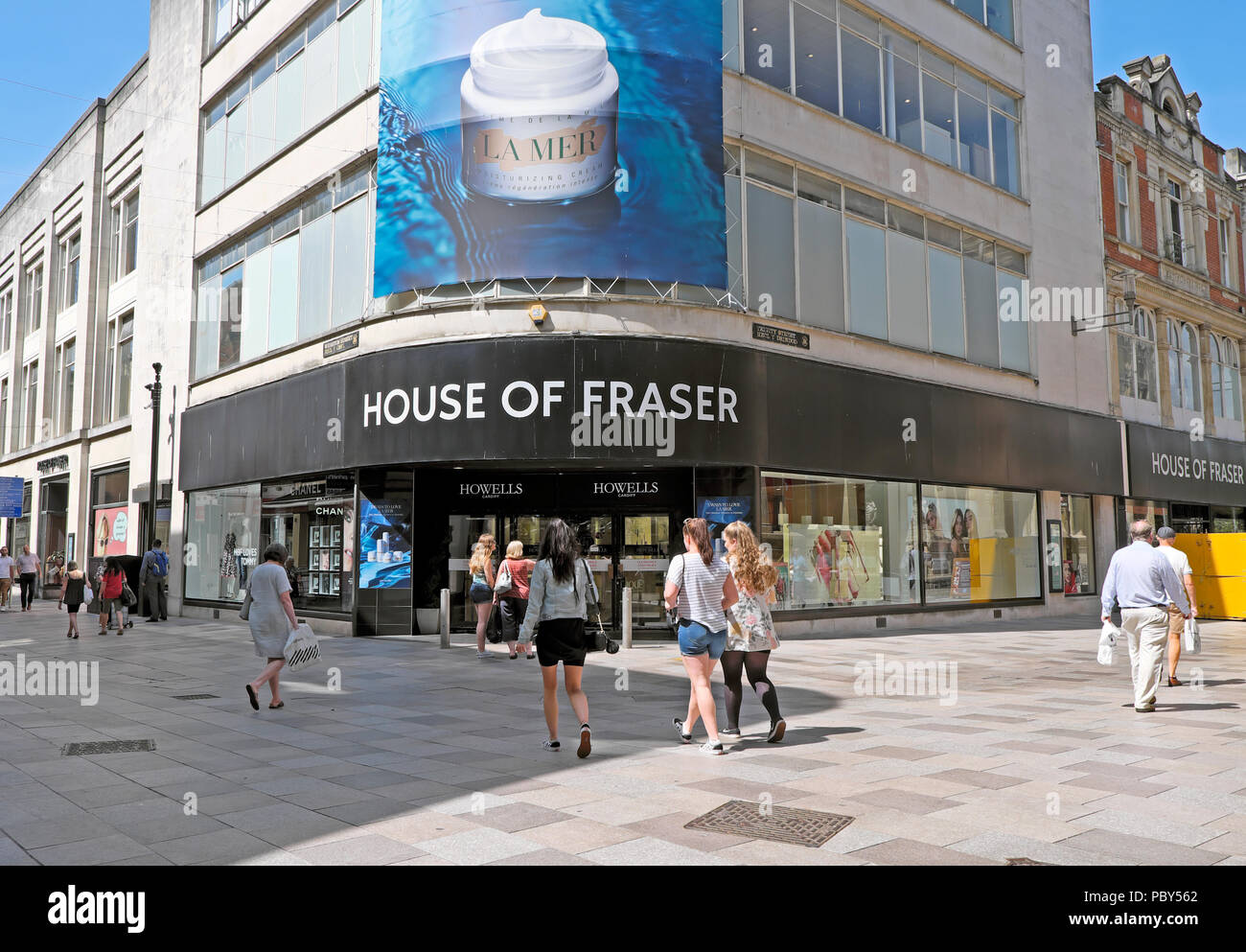 House of Fraser Department Store due for closure in January 2019 Cardiff city centre Wales UK  KATHY DEWITT - Stock Image