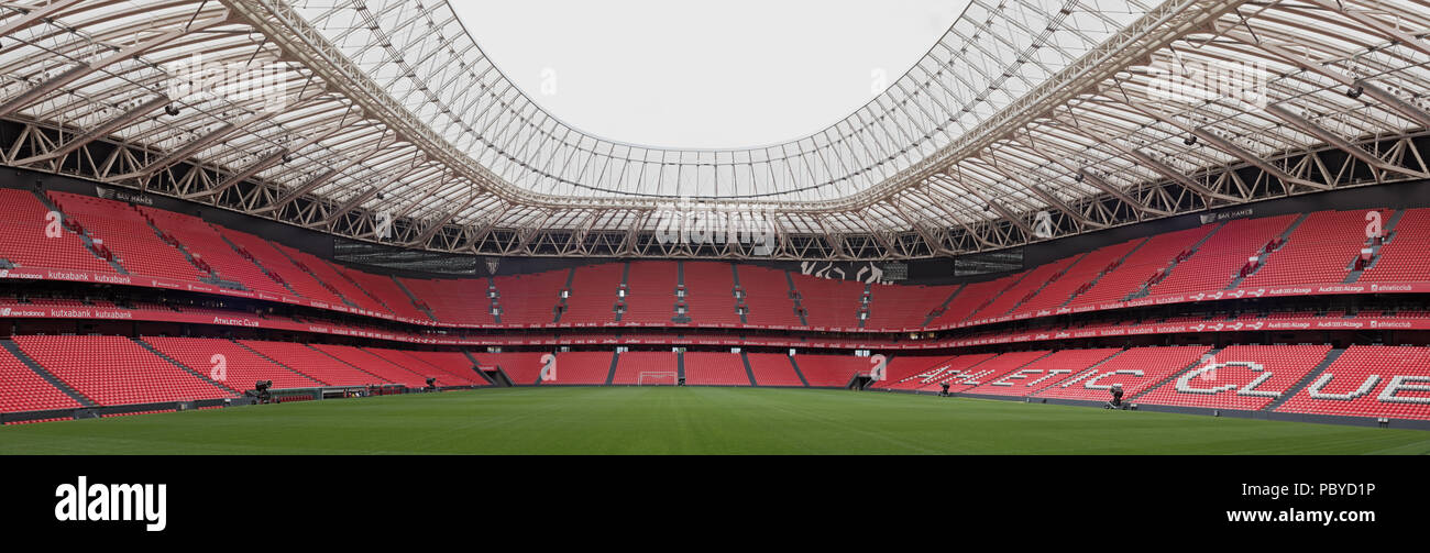 Panoramic view of San Mames, football stadium, home of Athletic de Bilbao, Basque Country, Spain. - Stock Image