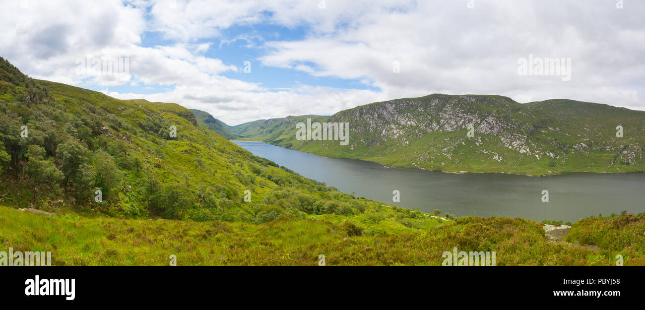 Glenveagh National Park, Ireland. Glenveagh National Park is one of Donegal's treasures. It can be found in the heart of Donegal and covers over 16,00 - Stock Image