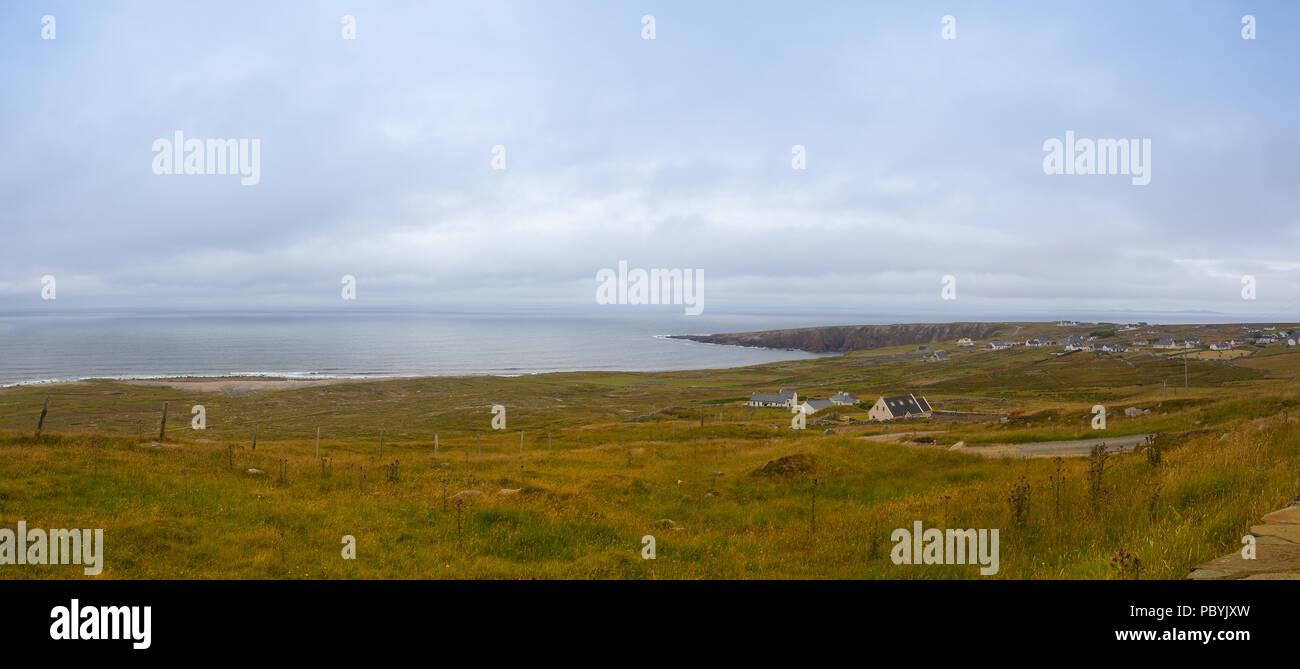 Small village on the Wild Atlantic Way. Brinlack Upper.Ireland - Stock Image