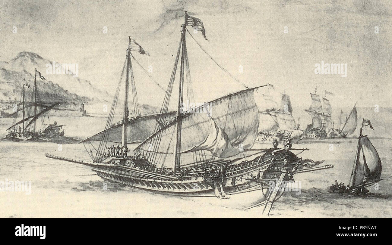 234 Galère - Pierre Puget 1655 - Stock Image