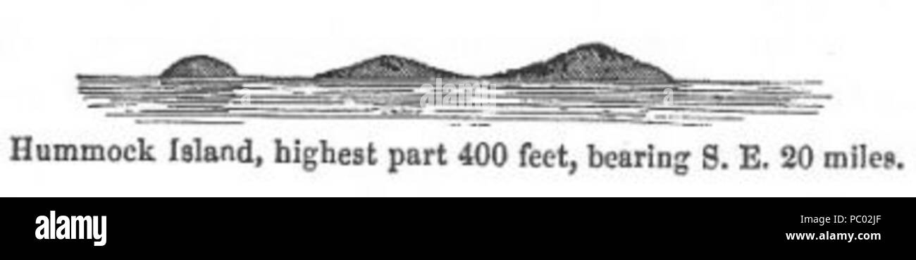 288 Hummock Island (Discoveries in Australia) - Stock Image