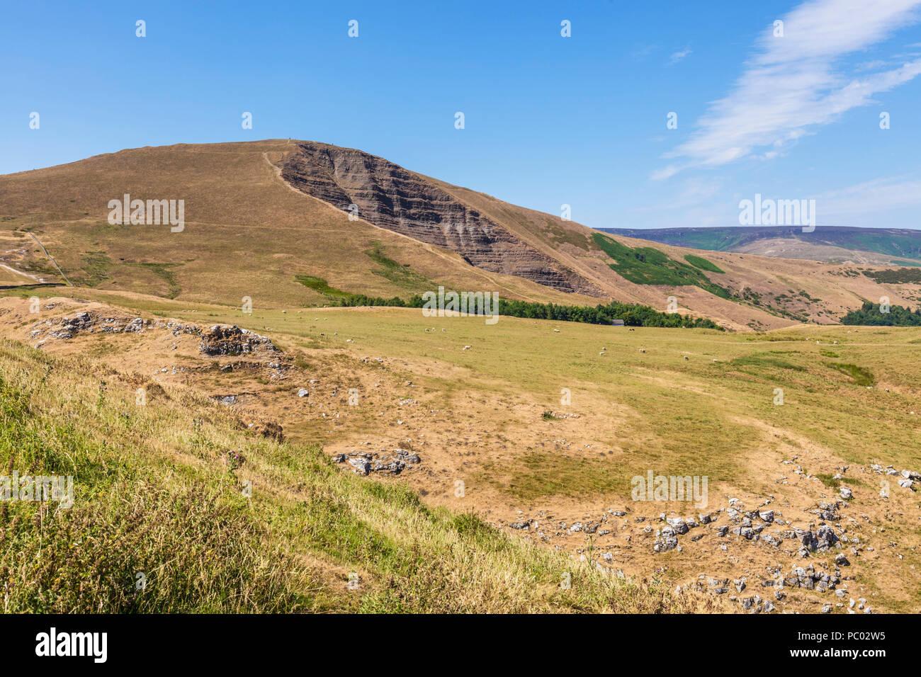 Mam tor a hill near castleton derbyshire peak district national park derbyshire england uk gb europe - Stock Image
