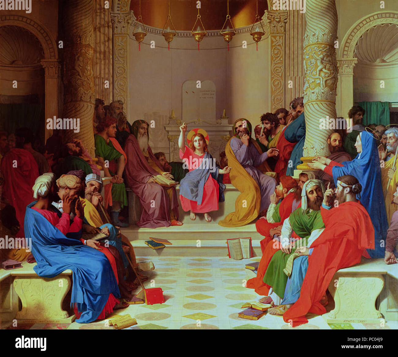 297 Ingres Jesus-among-the-doctors - Stock Image