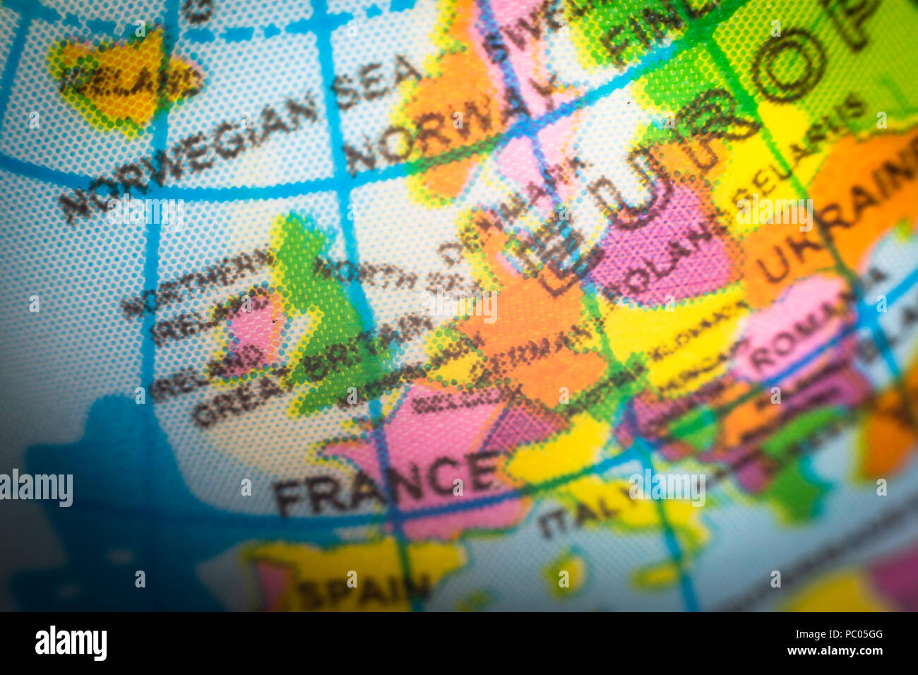 Childu0027s Globe Showing Europe Countries. Concept For Brexit And EU European  Union   Stock Image