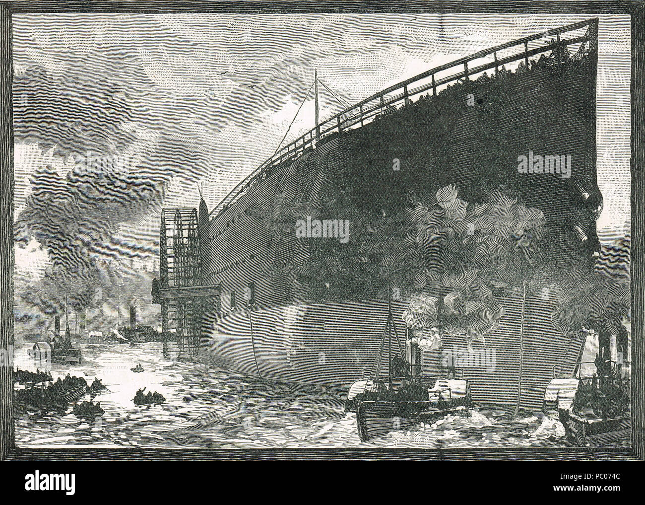 Launch of SS Great Eastern, 31 January 1858 - Stock Image