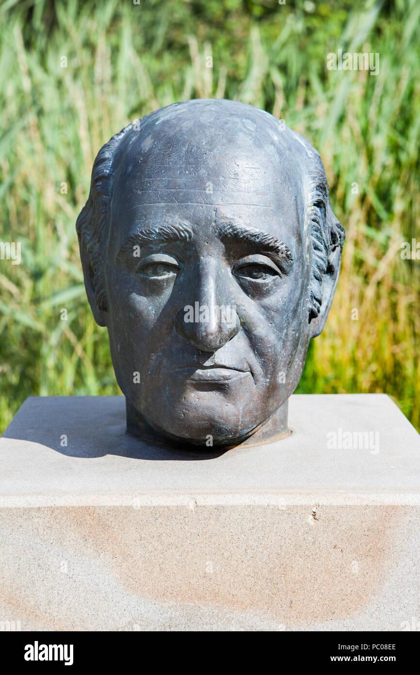 Heinrich Friedrich Karl Reichsfreiherr vom und zum Stein, 1757 - 1831, Baron vom Stein, Prussian politician, bust by Annette Wittkamp-Fröhling - Stock Image