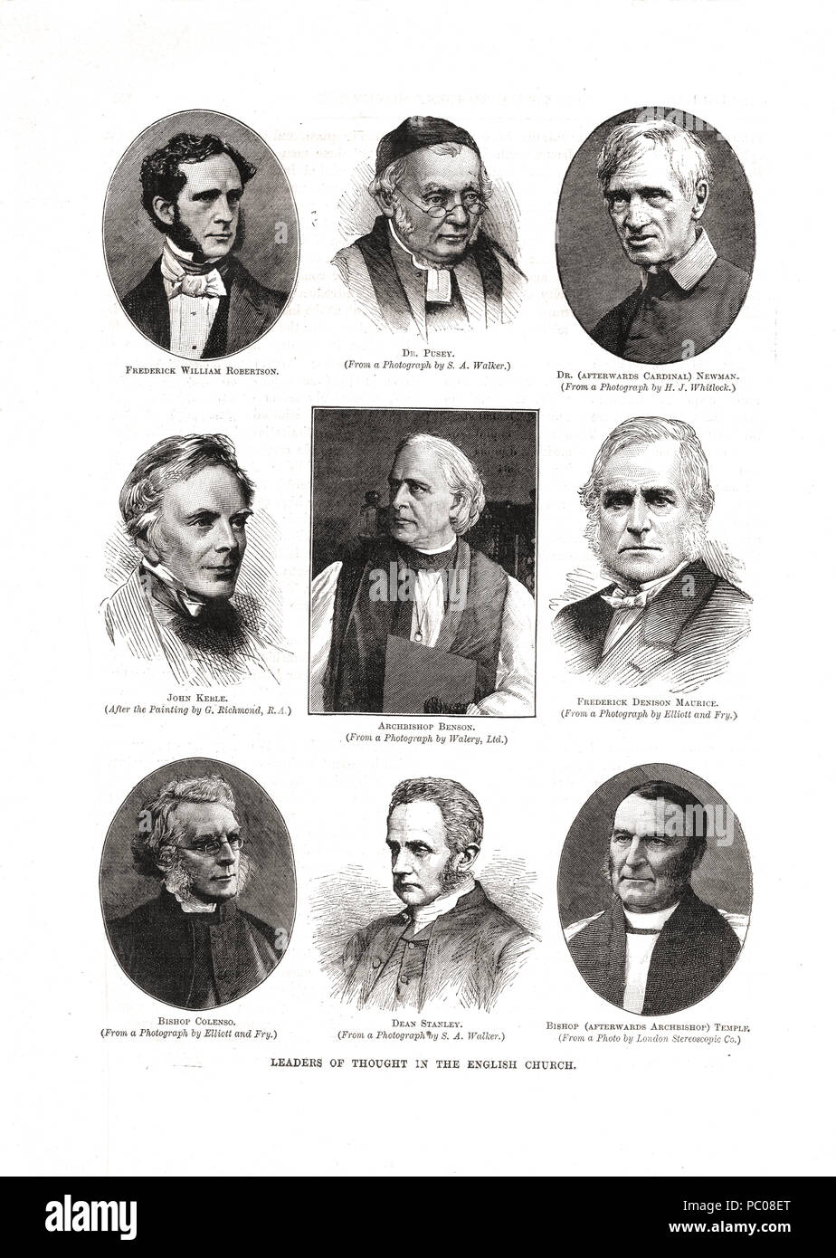 Church leaders of the Victorian era - Stock Image