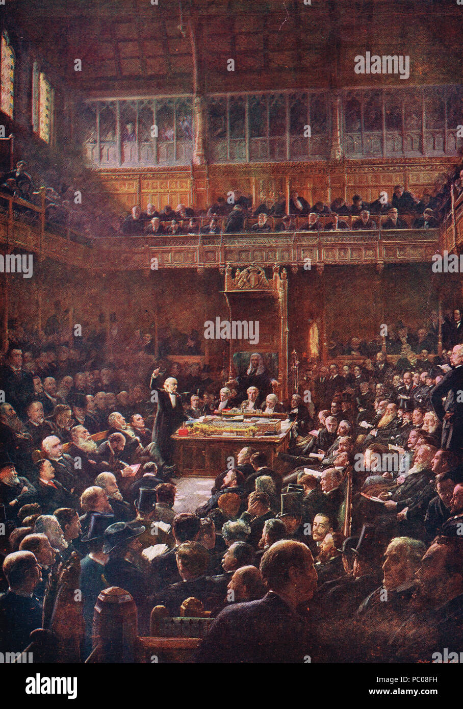William Gladstone speech, introducing the Second Home Rule bill, House of Commons, 13 February 1893 - Stock Image