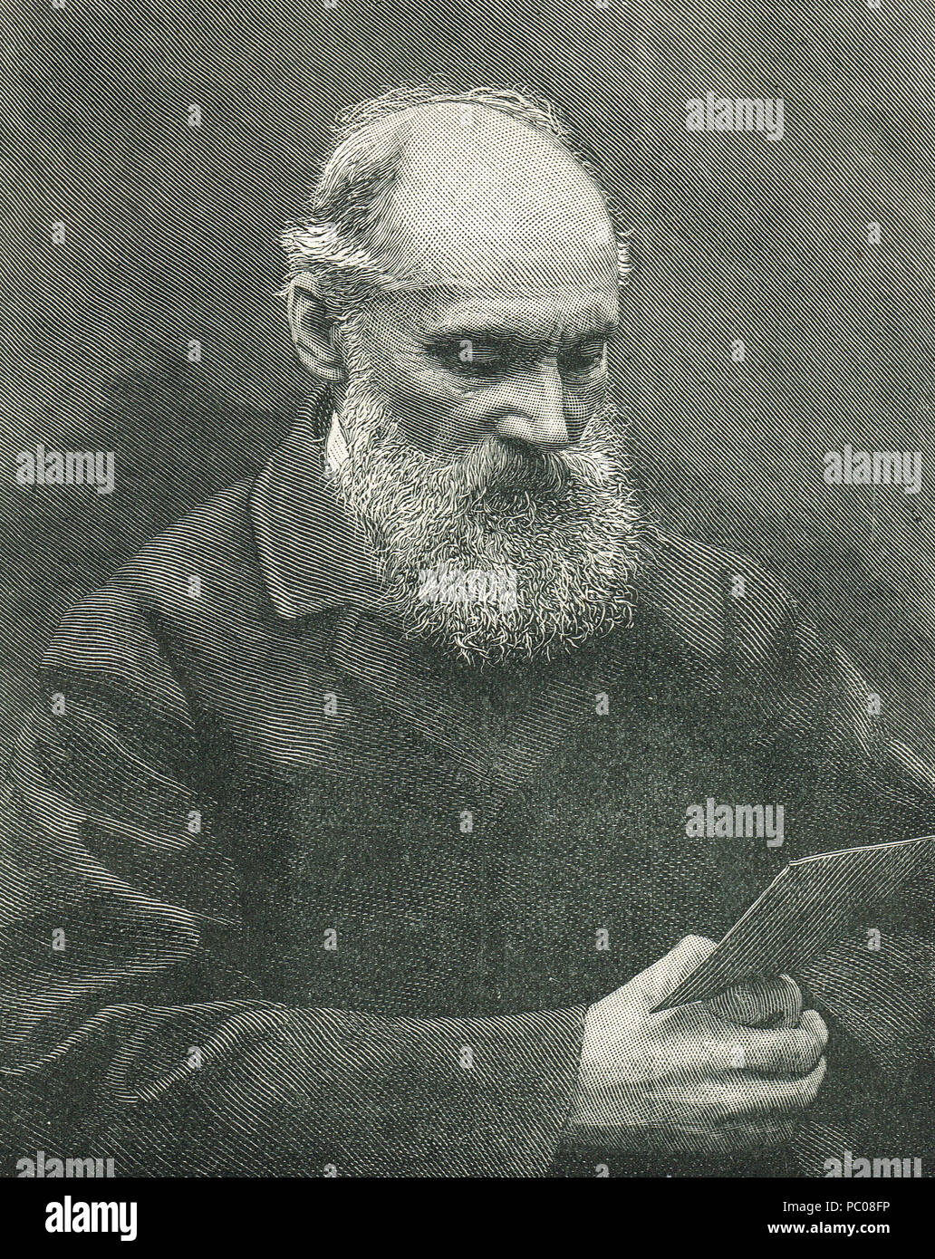 William Thomson, 1st Baron Kelvin, Scots-Irish mathematical physicist - Stock Image