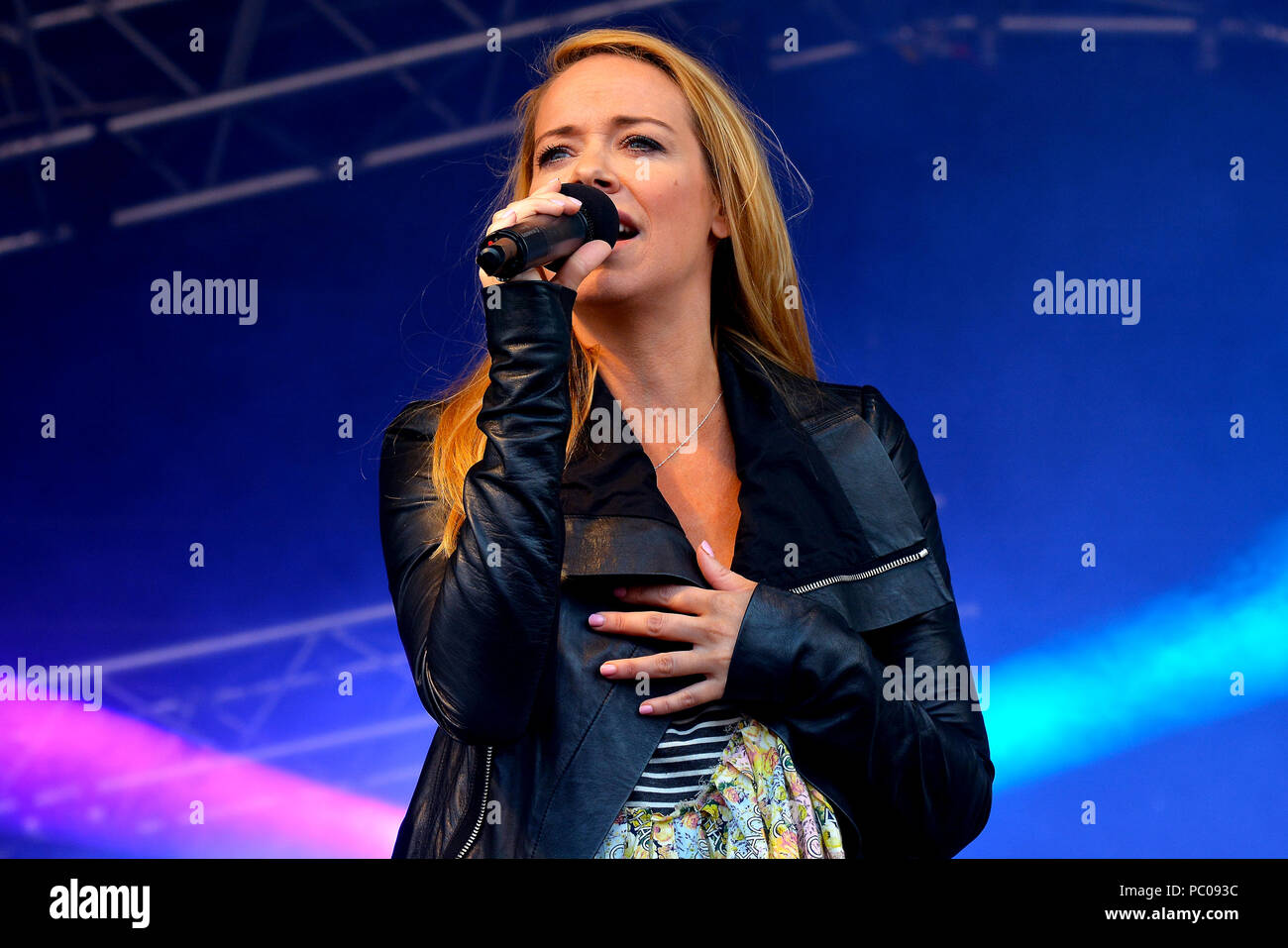 Atomic Kitten performing live on stag 2018 - Stock Image