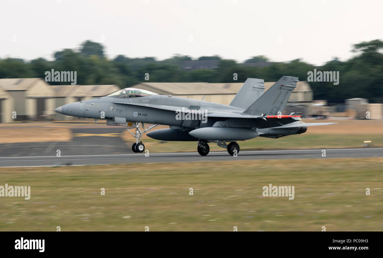 Boeing F/A 18C Hornet, Finnish Air Force - Stock Image