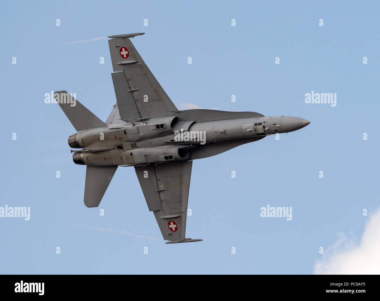 Boeing F/A 18C Hornet,Swedish Air Force, - Stock Image