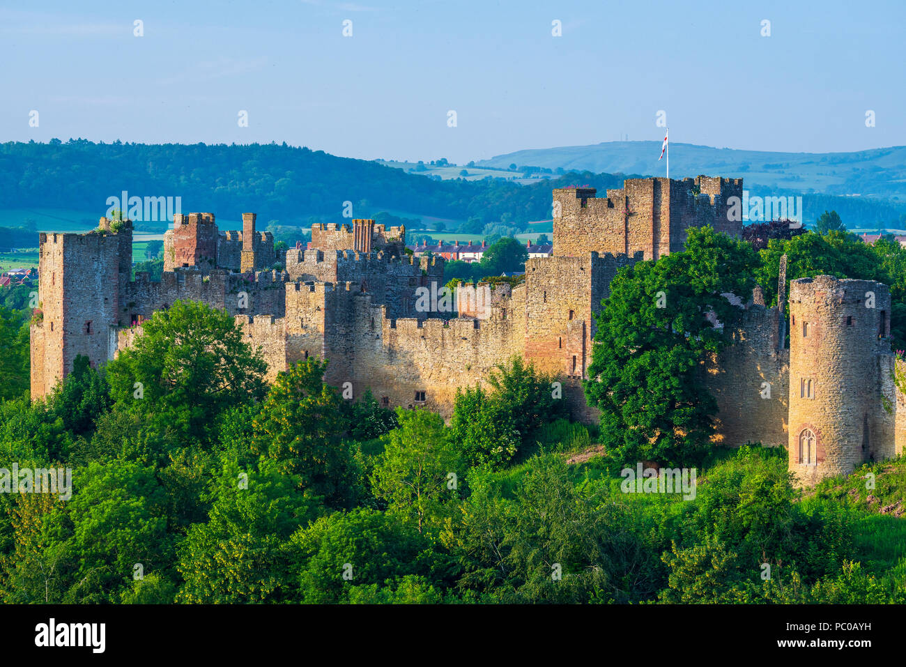 Ludlow Castle, Shropshire, England, United Kingdom, Europe - Stock Image