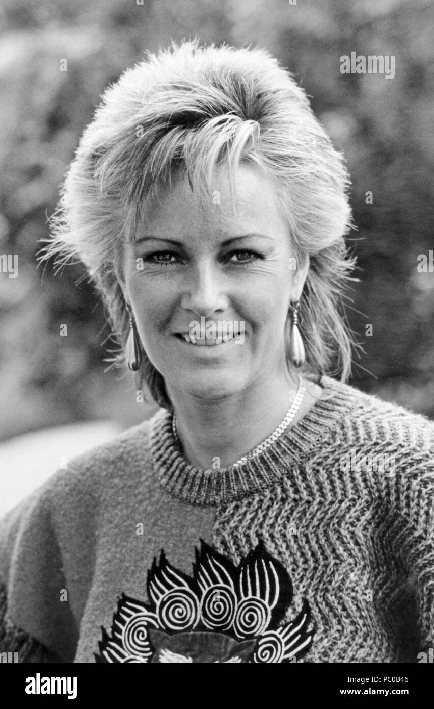 ABBA. Anni-Frid Lyngstad 1982 - Stock Image
