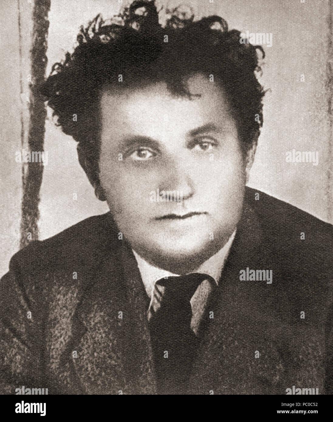 Grigory Yevseevich Zinoviev, 1883 – 1936, born Hirsch Apfelbaum, aka Ovsei-Gershon Aronovich Radomyslsky.  Bolshevik revolutionary and a Soviet Communist politician.  From These Tremendous Years, published 1938. - Stock Image