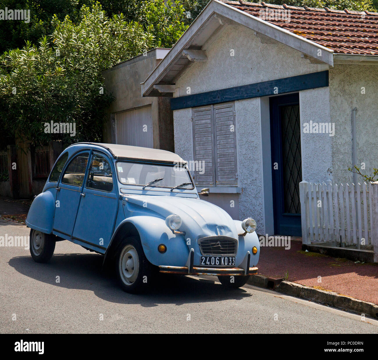 Citroen Classic car, the Deux Chevaux - Stock Image