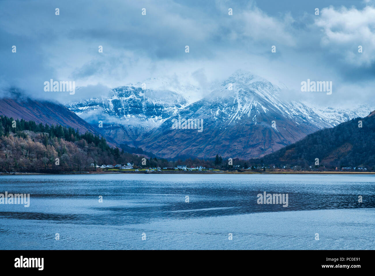 Loch Leven, North Ballachulish, Lochaber, Highland, Scotland, United Kingdom, Europe - Stock Image