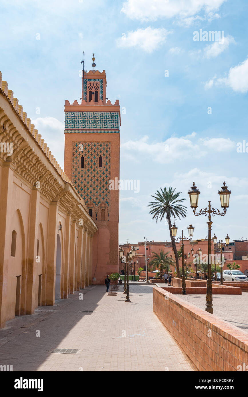 Kasbah Mosque Also Mansouria Mosque Or Mosque Of Moulay Al Yazid Marrakech Medina Marrakech Morocco Africa Stock Photo Alamy