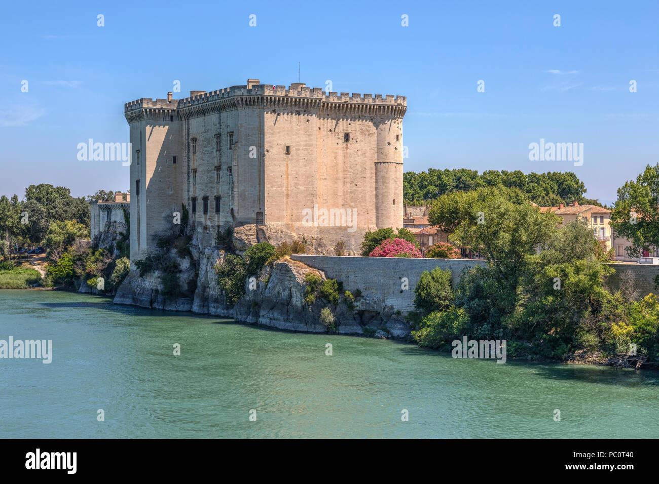 Chateau de Tarascon, Tarascon, Bouches-du-Rhone, Provence, France - Stock Image