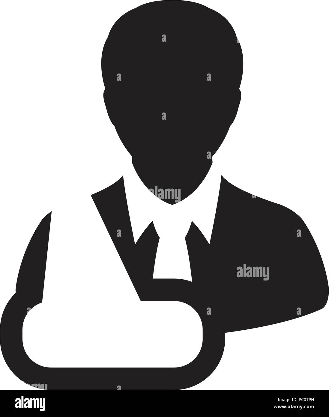 Nursing Icon Vector Of Male Person Profile Avatar Symbol For Injury