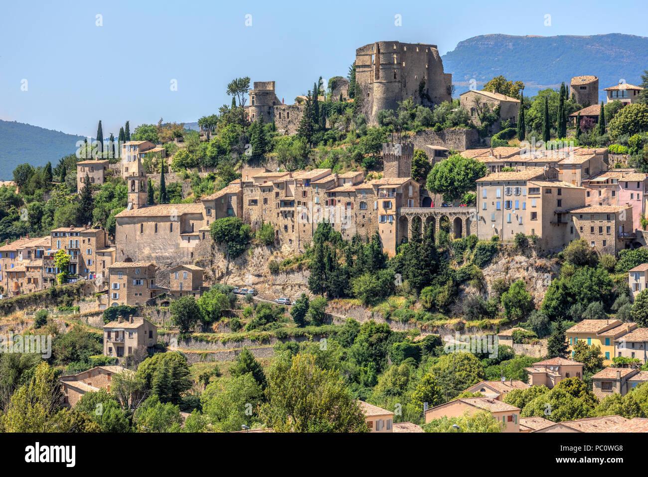 Montbrun-les-Bains, Drome, France, Europe - Stock Image