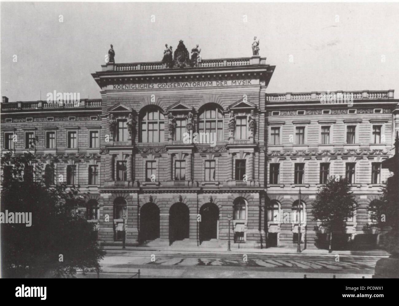 344 Koenigl Konservatorium Leipzig um 1910 Stock Photo