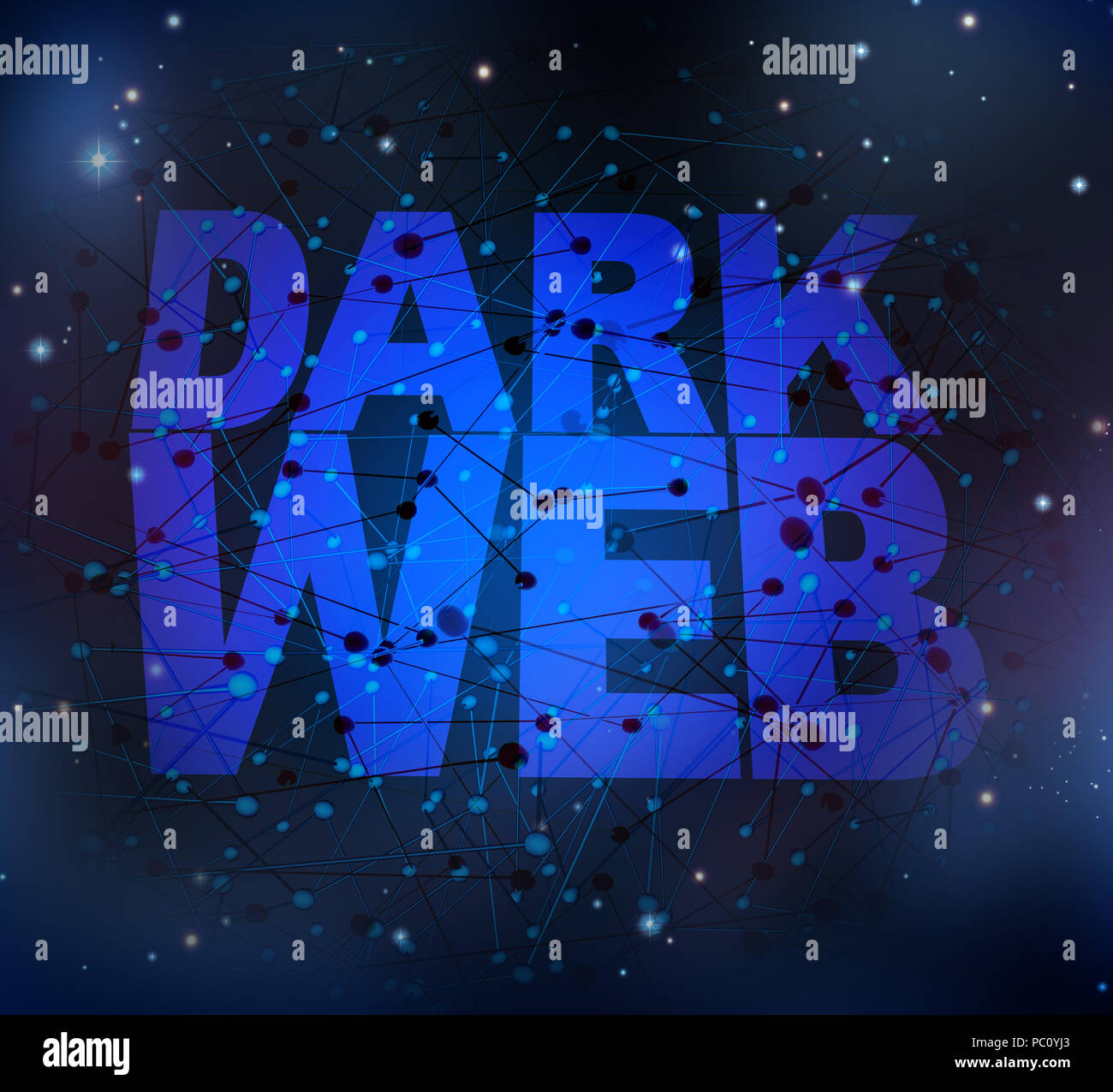 Dark web symbol and hidden internet technology as a hidden website in cyberspace and secret search engines for the deepnet as a network group . - Stock Image