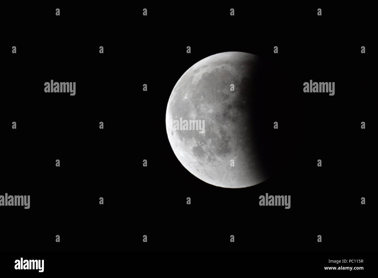 Moon Eclipse Closeup Showing The Details Of Lunar Surface Moon Eclipse Stock Photo Alamy