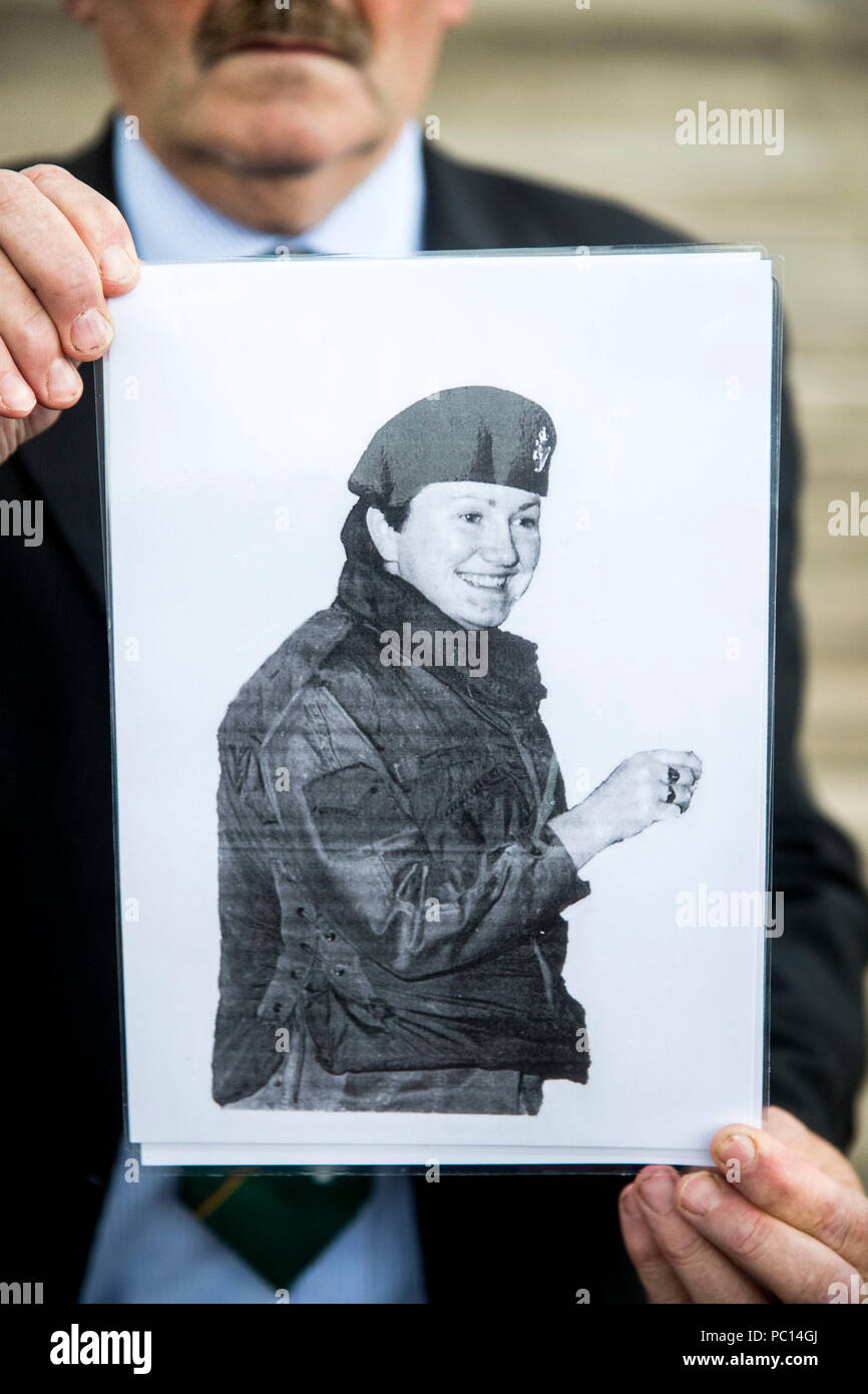 David Kerrigan From Castlederg Holds An Image Of His Sister Lcpl