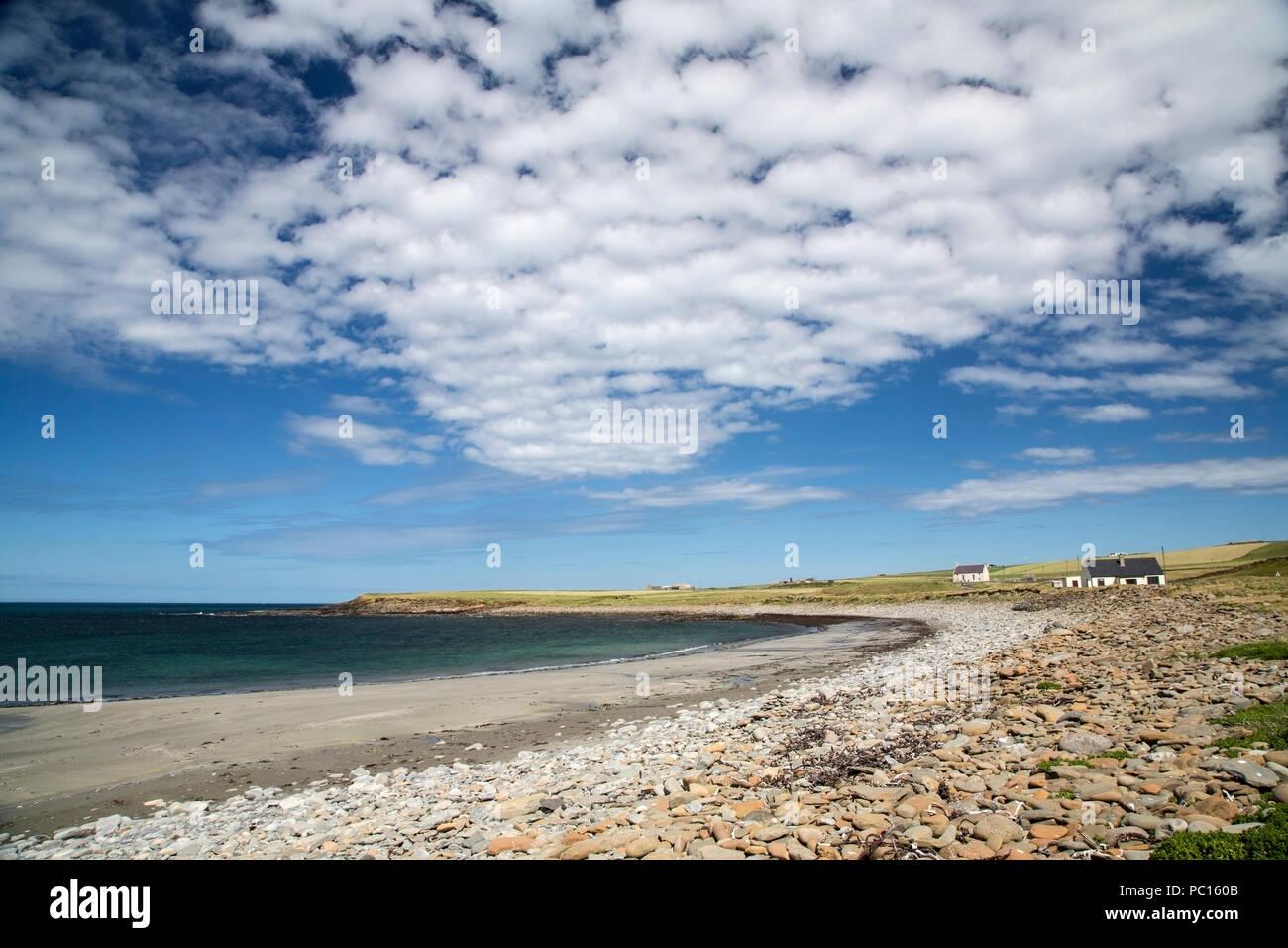 view of beach near Kirkwall, Orkney islands, Scotland - Stock Image