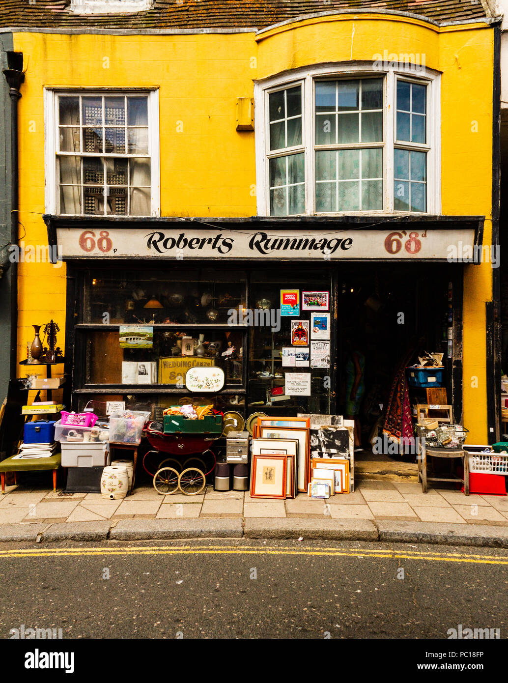 Shop in the old town part of Hastings UK - Stock Image