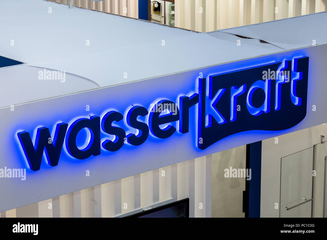 Moscow, Russia - April, 2018: Wasser Kraft logo company sign on the ...
