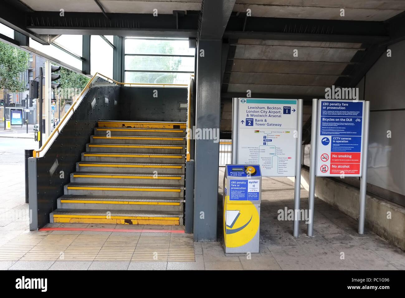 Westferry Docklands Light Railway Station - Stock Image