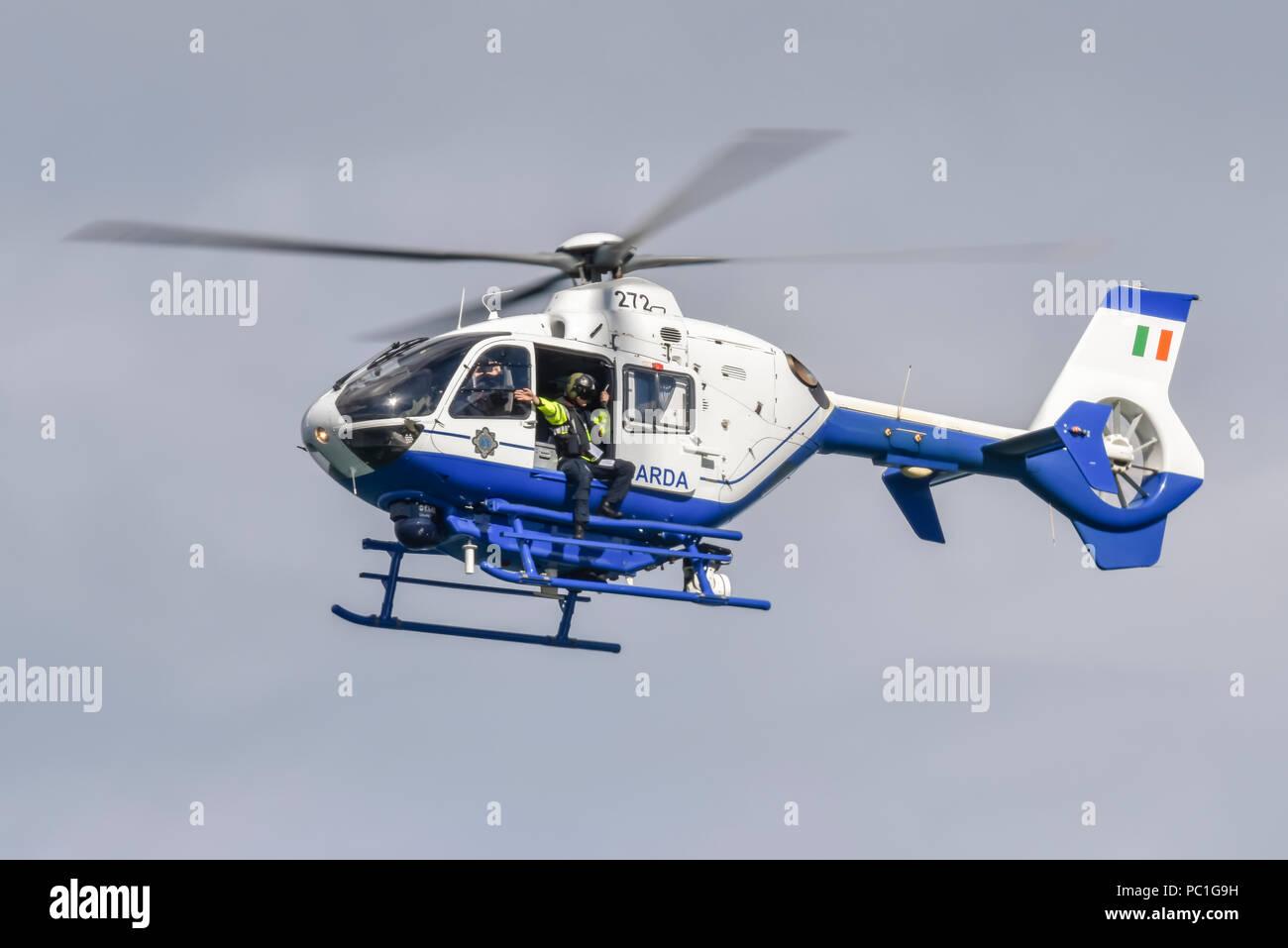 Eurocopter EC-135 helicopter belonging to the Irish Garda Siochana police force. - Stock Image