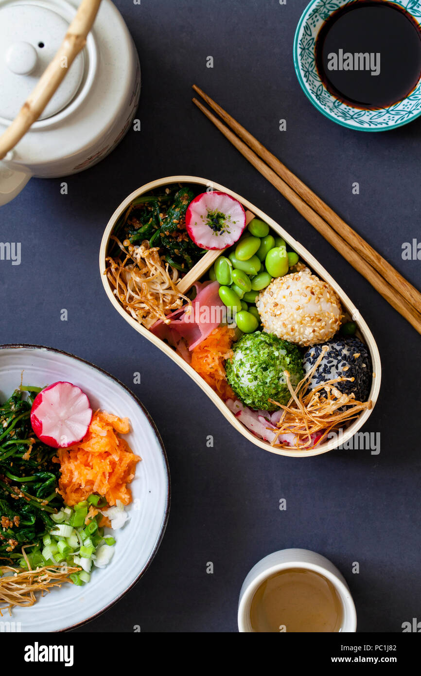 Japanese bento lunch - Stock Image