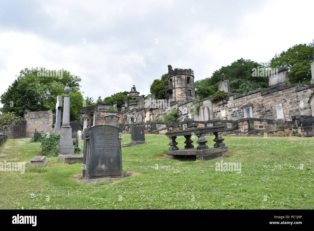 New Calton Burial Ground, Edinburgh, Scotland. June, 2018 Stock Photo