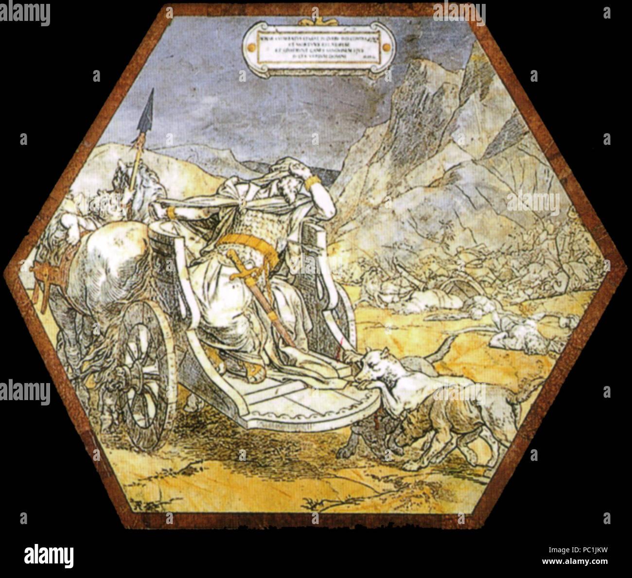472 Pavimento di siena, esagono, morte di acab (alessandro franchi) 01 Stock Photo
