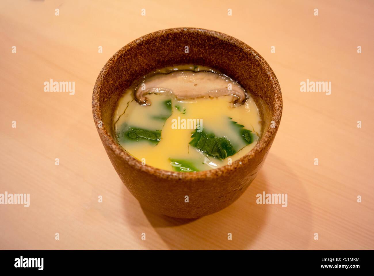 Chawanmushi, japanese food, tokyo, japan - Stock Image