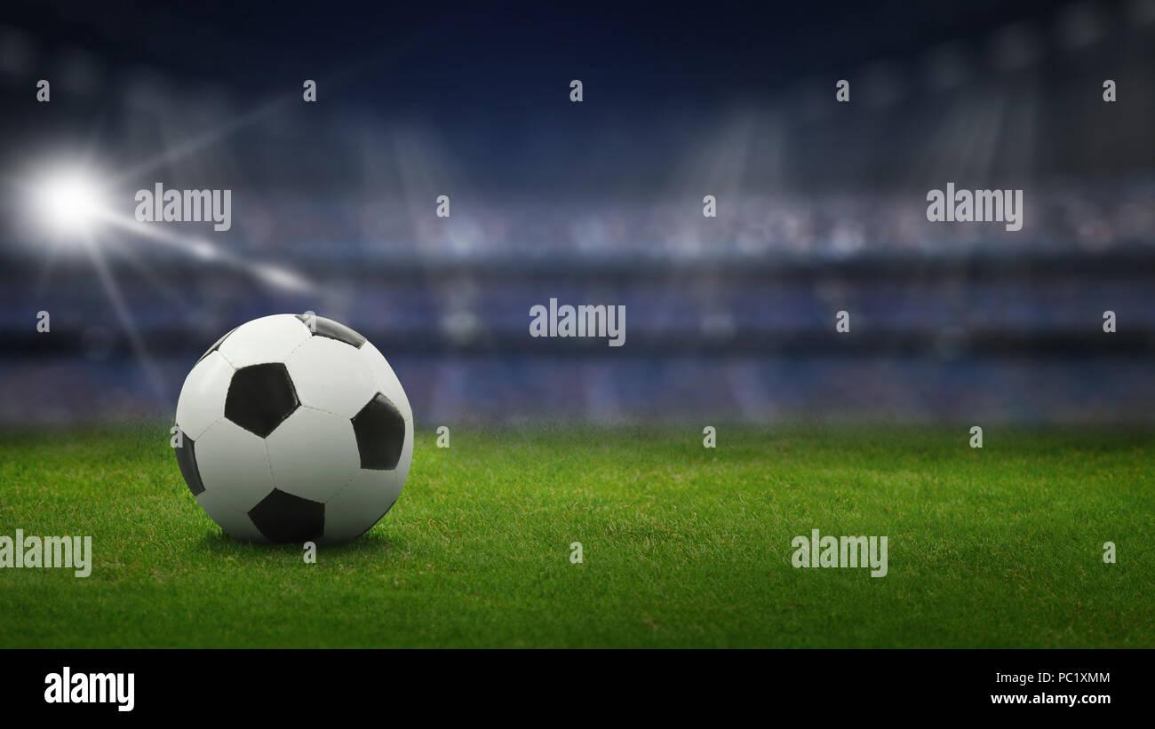 Football in the stadium - Stock Image