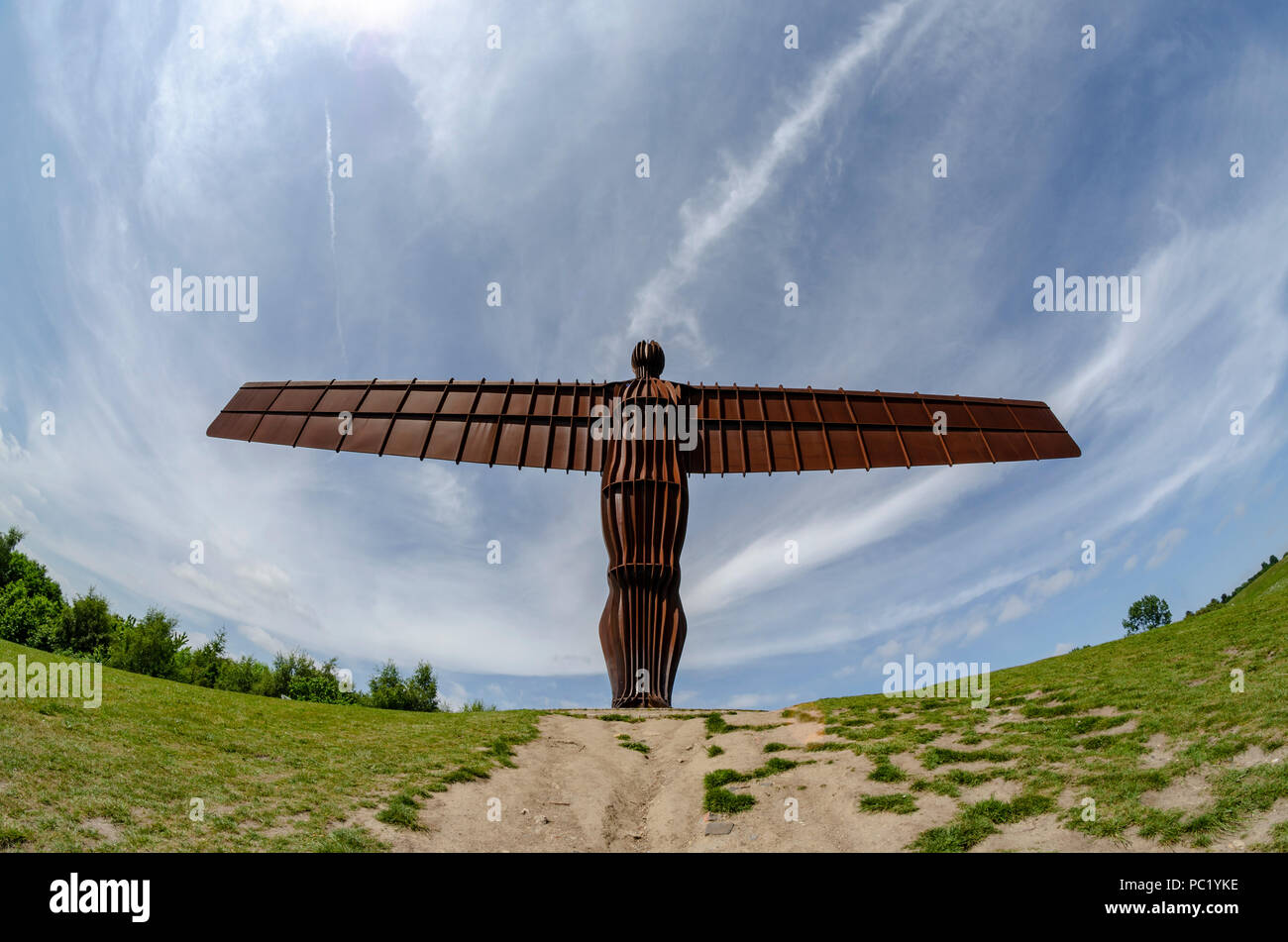 The Angel Of The North Statue, UK - Stock Image
