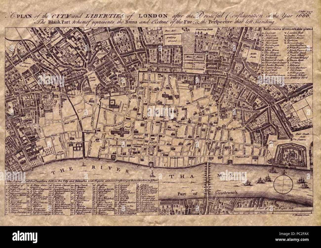 Great Fire Of London Map.454 Old Maps The Great Fire Of London Stock Photo 213956258 Alamy