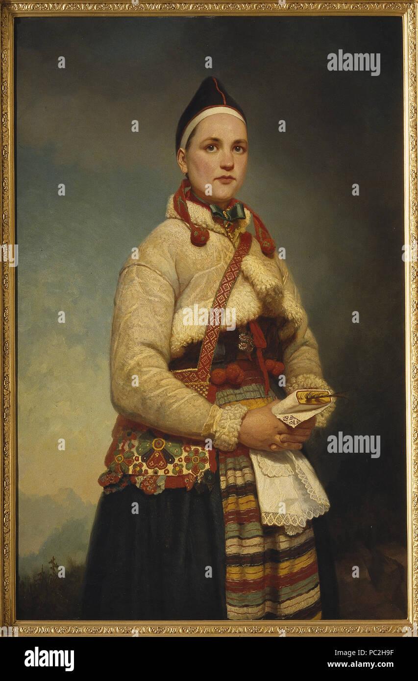 39 Girl from Dalarna (Gottfrid Virgin) - Nationalmuseum - 18254 - Stock Image