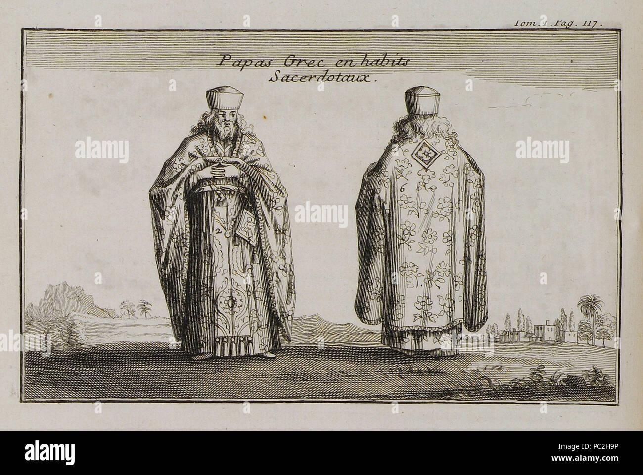 466 Papas Grec en habits Sacerdotaux - Tournefort Joseph Pitton De - 1717