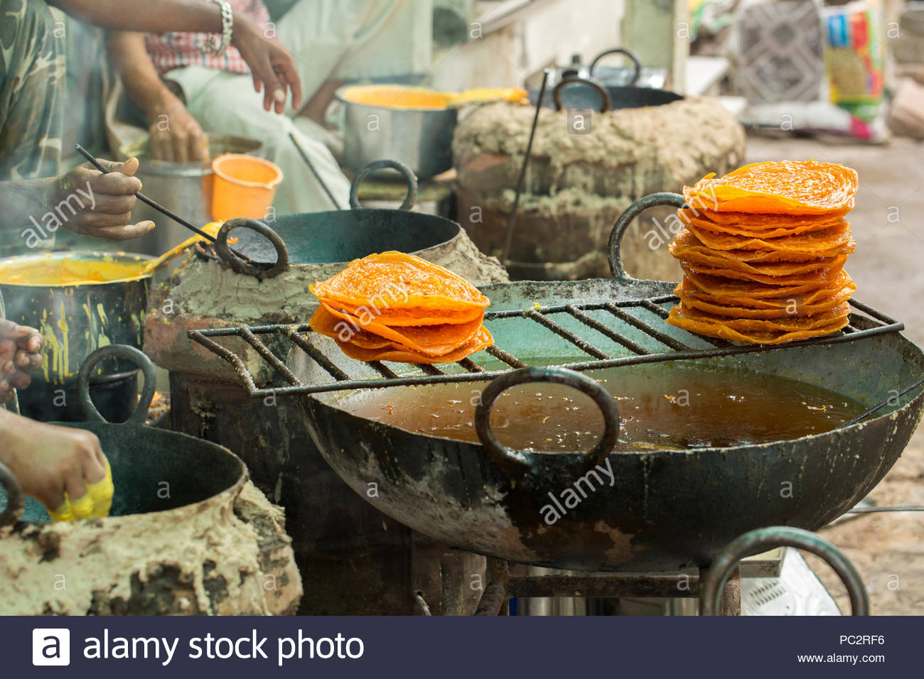 indian traditional sweet food Ghewar - Stock Image