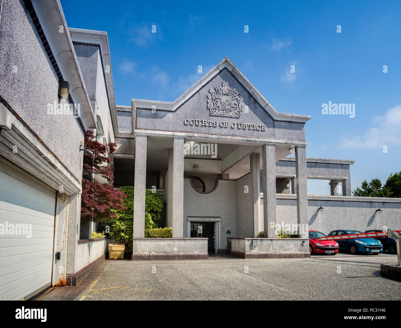12 June 2018: Truro, Cornwall, UK - Law Court or Courts of Justice. - Stock Image