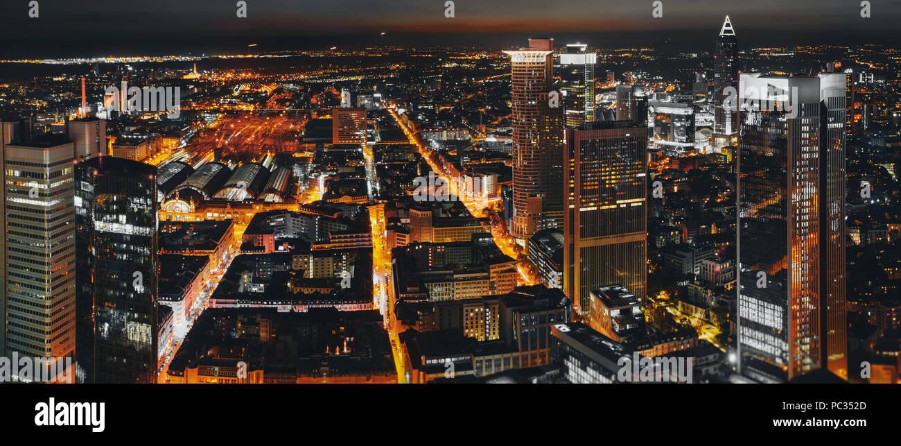 frankfurt bei nacht - Stock Image