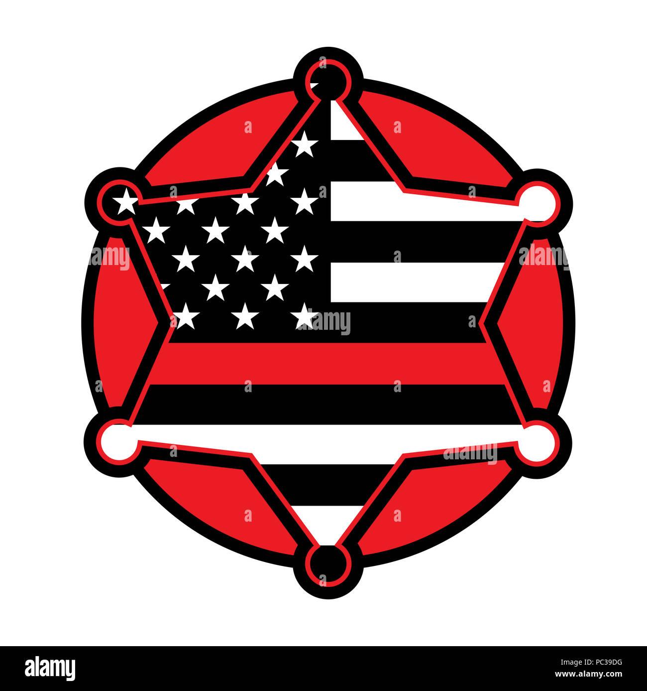 a red firefighter fireman badge emblem illustration vector eps 10