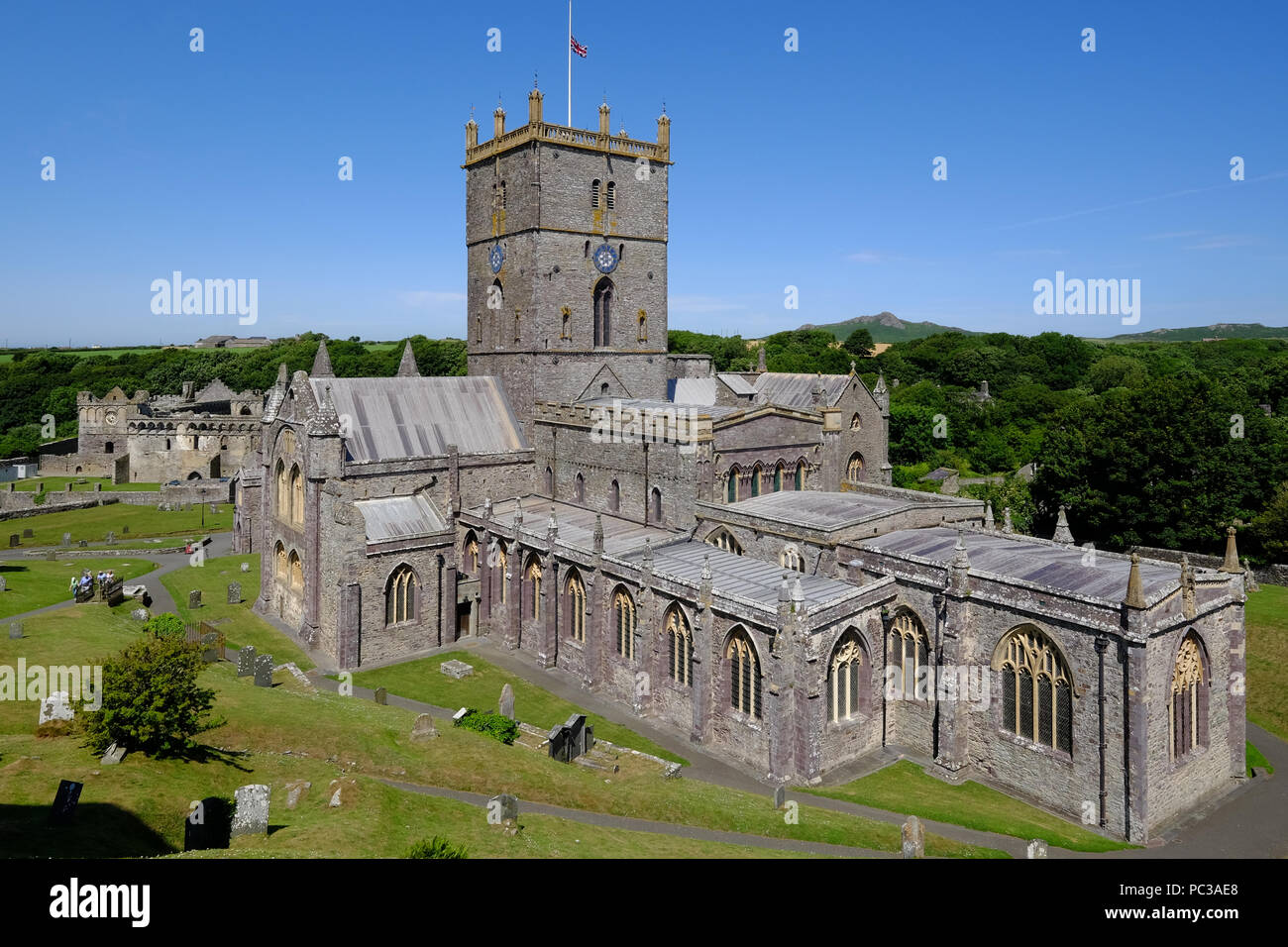 St Davids Cathedral in St Davids, Pembrokeshire, West Wales Stock Photo