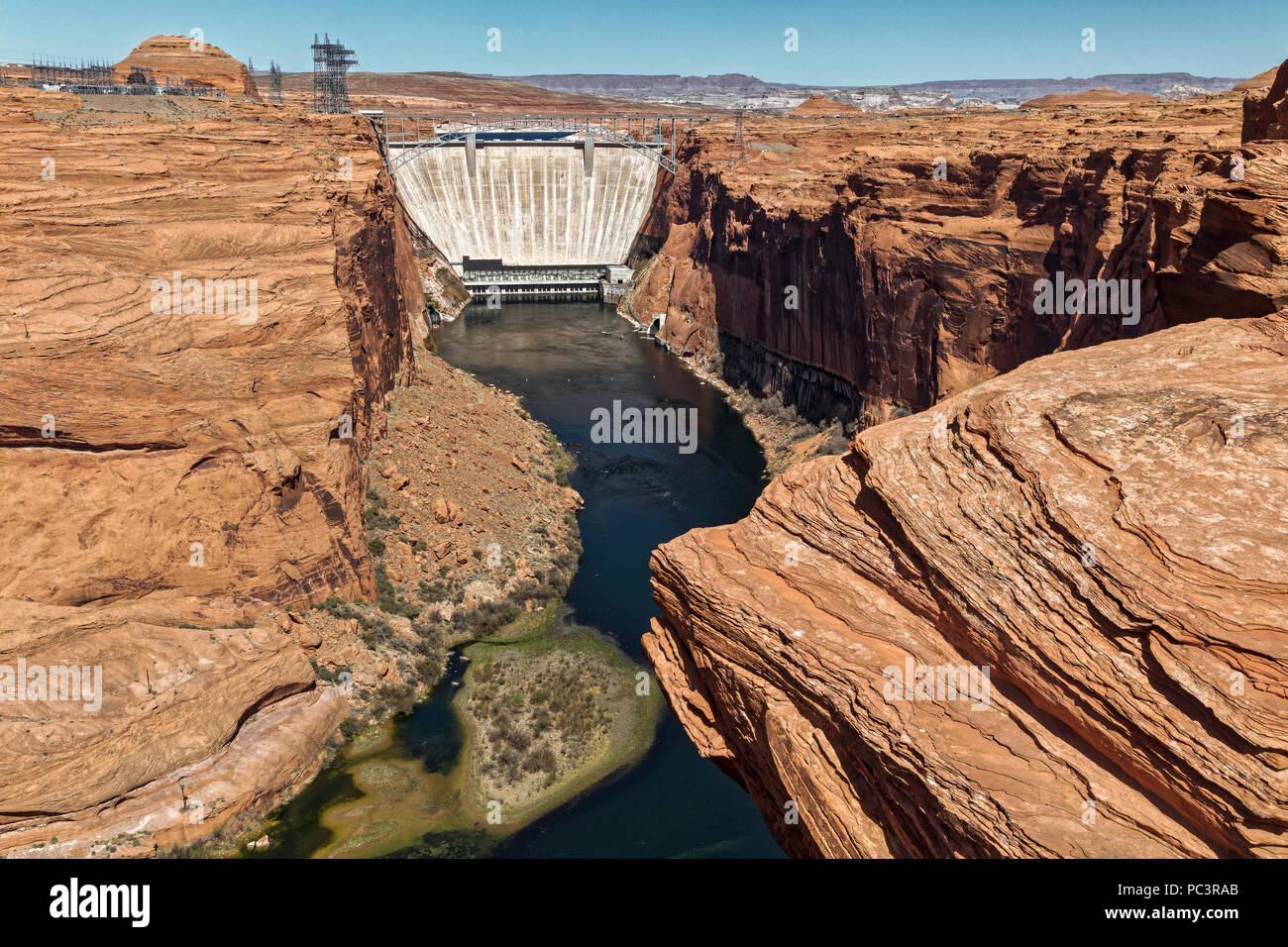 Glen Canyon Dam, Page, Arizona - Stock Image